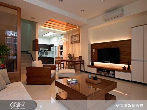 30坪新成屋(5年以下)_新中式風客廳案例圖片_安德康系統室內設計_安德康_01之2