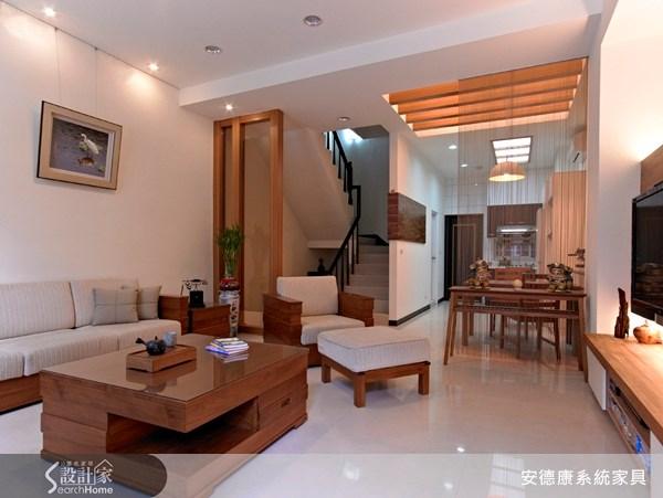 30坪新成屋(5年以下)_新中式風客廳案例圖片_安德康系統室內設計_安德康_01之3