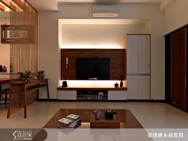 30坪新成屋(5年以下)_新中式風客廳案例圖片_安德康系統室內設計_安德康_01之1