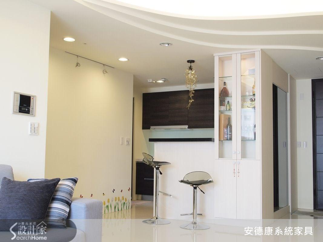 35坪新成屋(5年以下)_現代風吧檯案例圖片_安德康系統室內設計_安德康_05之1