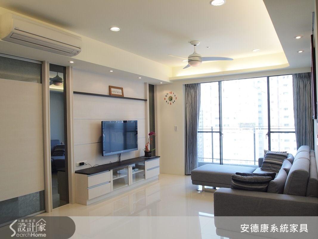 35坪新成屋(5年以下)_現代風客廳案例圖片_安德康系統室內設計_安德康_05之4
