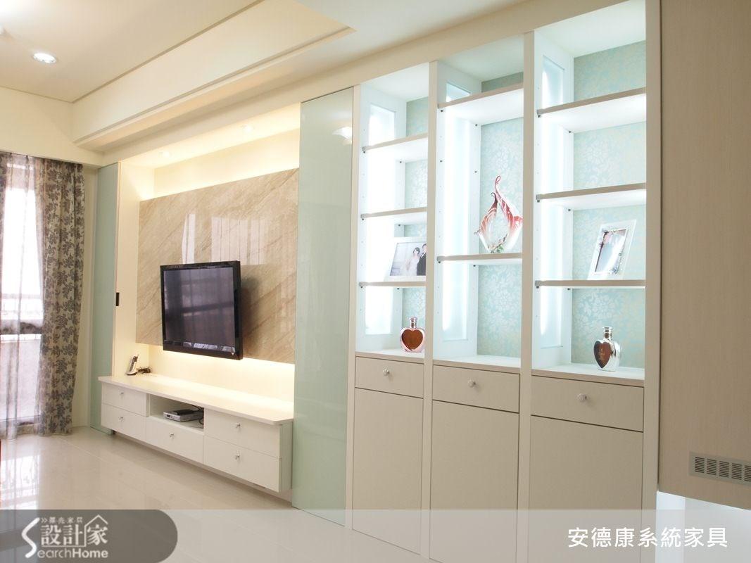 35坪新成屋(5年以下)_美式風客廳案例圖片_安德康系統室內設計_安德康_07之3