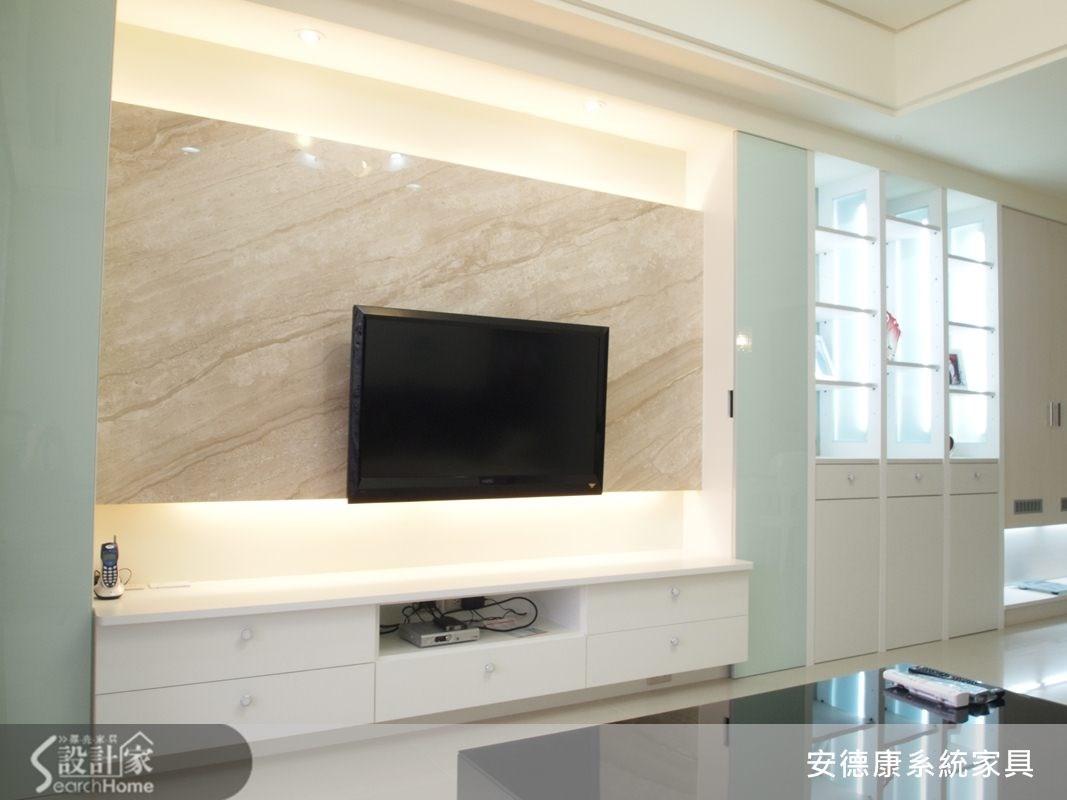 35坪新成屋(5年以下)_美式風客廳案例圖片_安德康系統室內設計_安德康_07之4