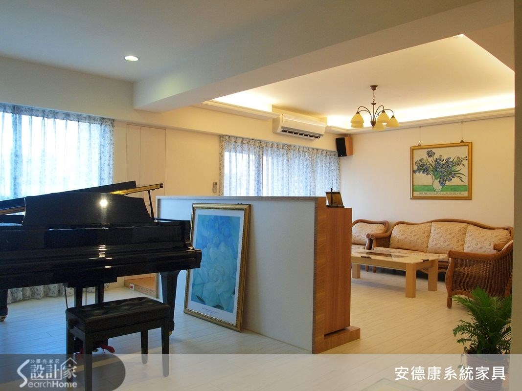 28坪新成屋(5年以下)_鄉村風客廳案例圖片_安德康系統室內設計_安德康_08之4