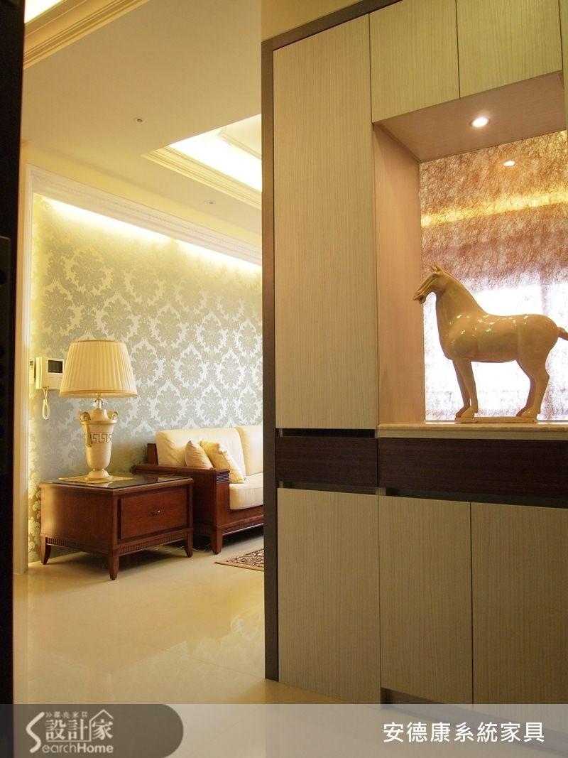 40坪新成屋(5年以下)_新古典玄關案例圖片_安德康系統室內設計_安德康_09之2