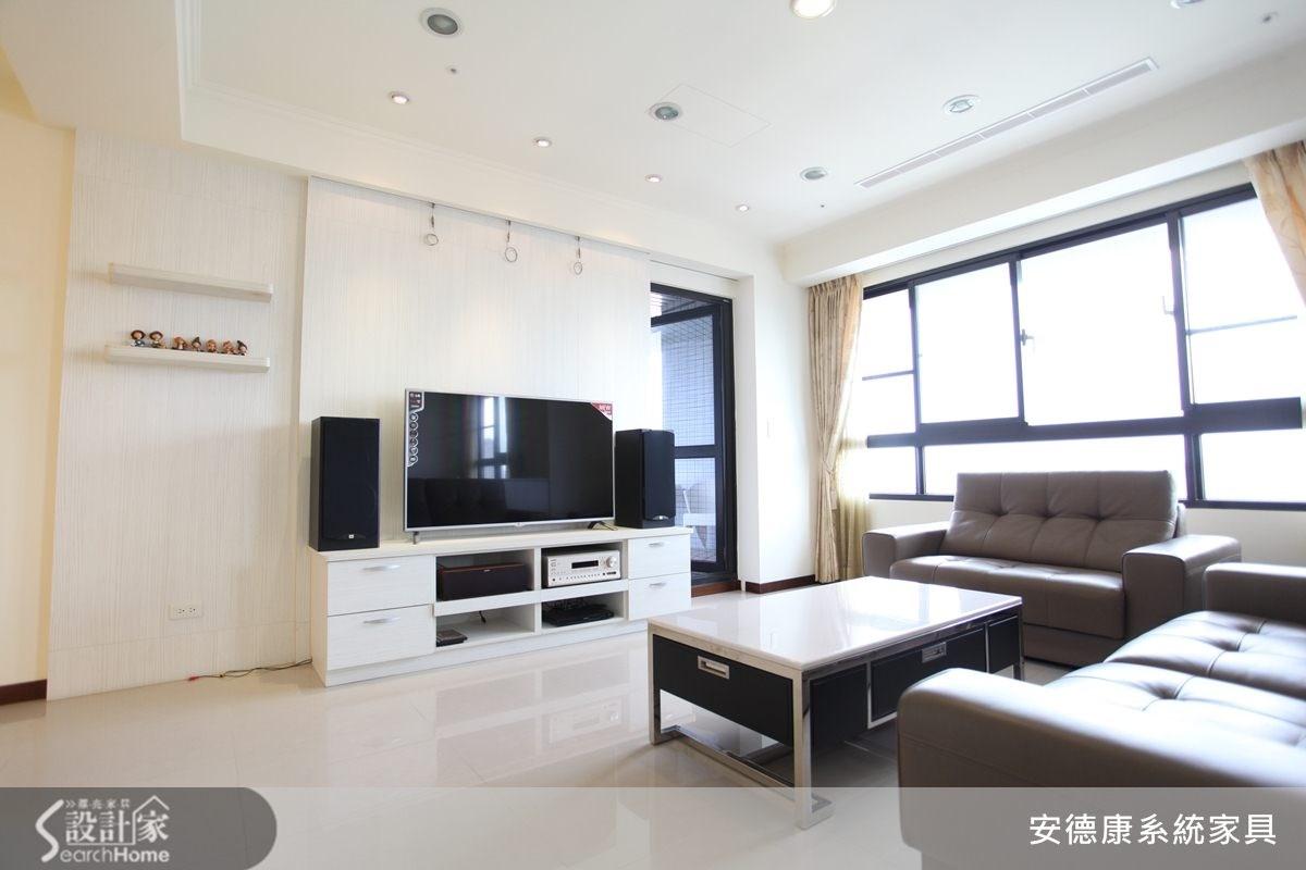 40坪新成屋(5年以下)_簡約風客廳案例圖片_安德康系統室內設計_安德康_11之3