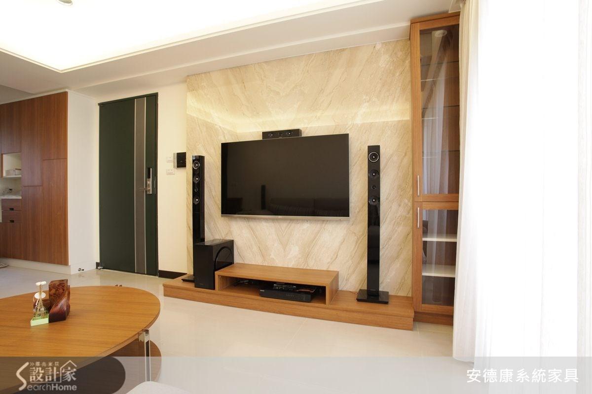 25坪新成屋(5年以下)_現代風客廳案例圖片_安德康系統室內設計_安德康_15之1