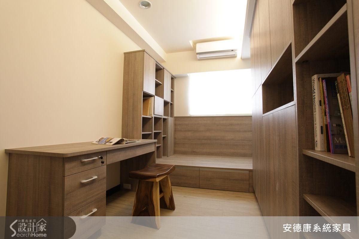 25坪新成屋(5年以下)_現代風書房案例圖片_安德康系統室內設計_安德康_15之4