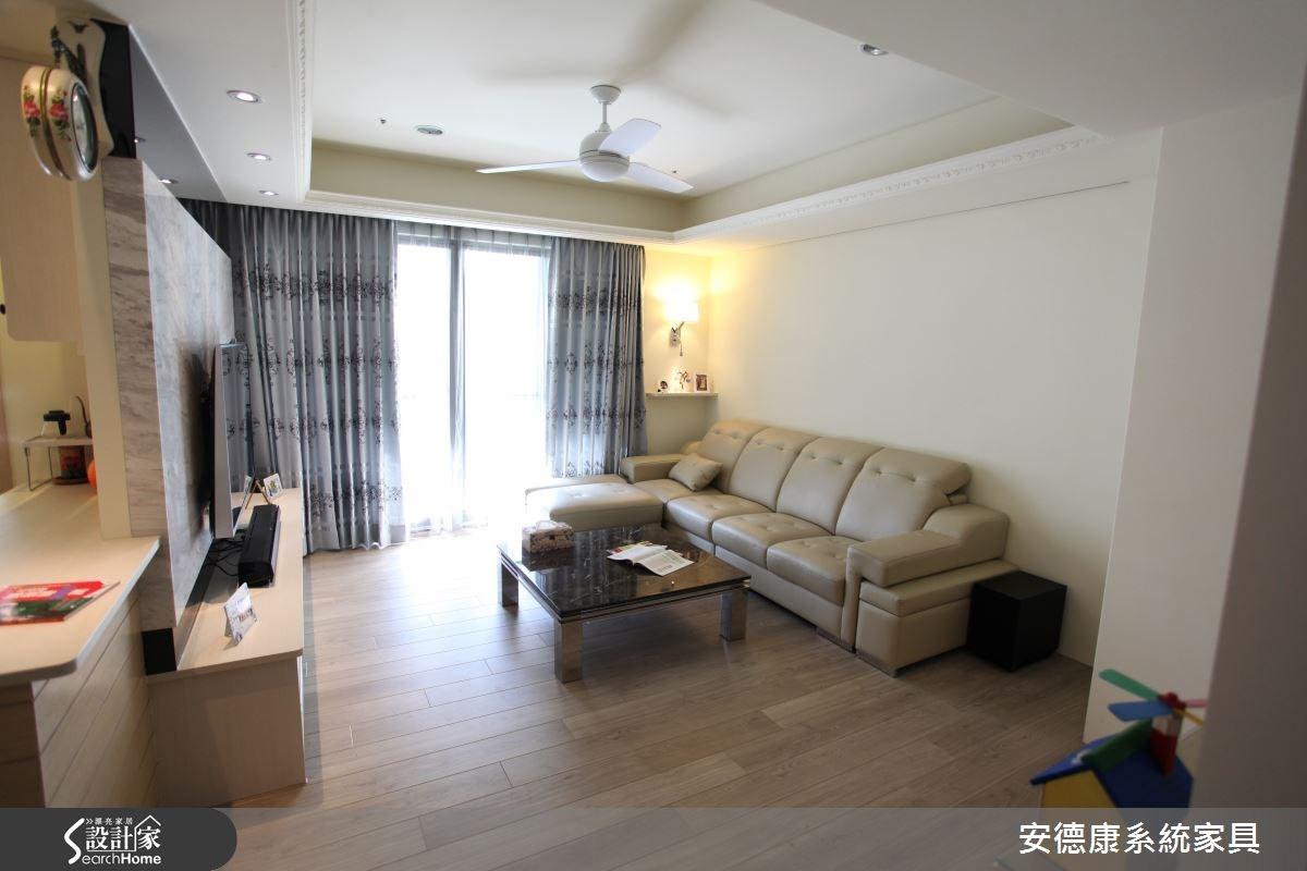 38坪中古屋(5~15年)_新古典客廳案例圖片_安德康系統室內設計_安德康_18之5