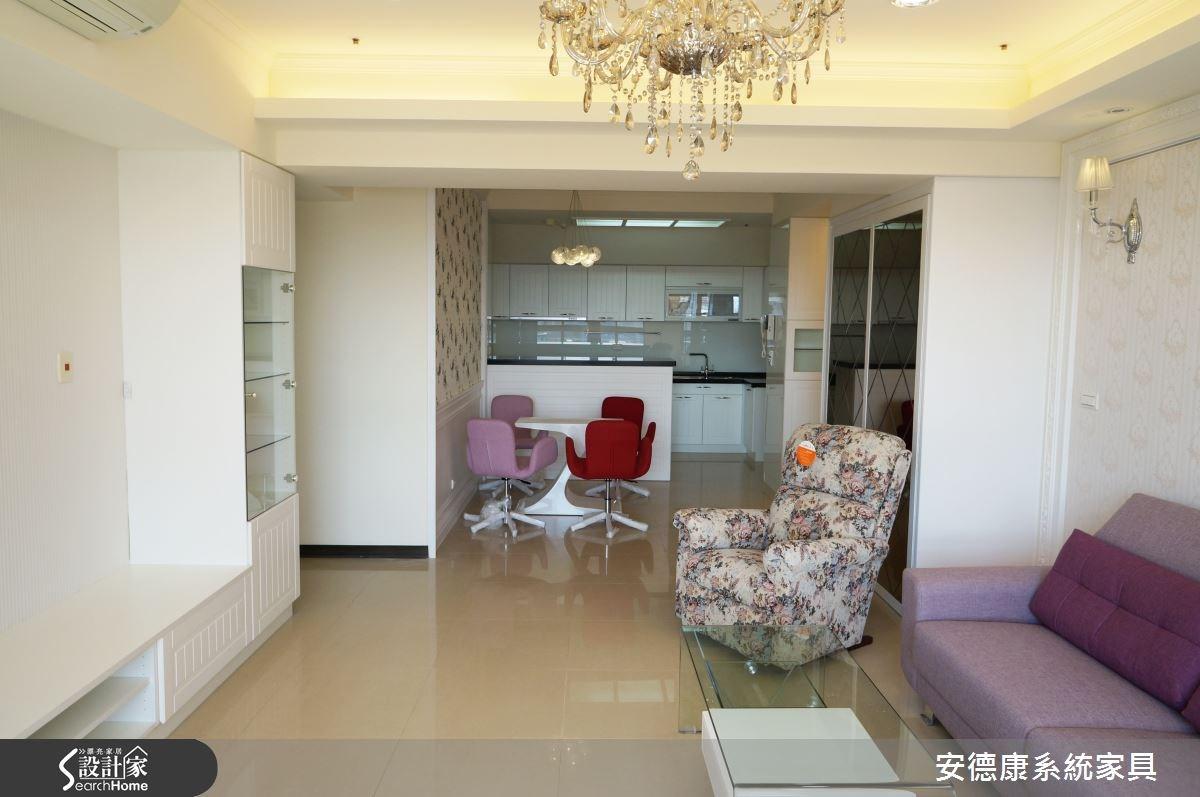 40坪中古屋(5~15年)_新古典客廳案例圖片_安德康系統室內設計_安德康_19之3