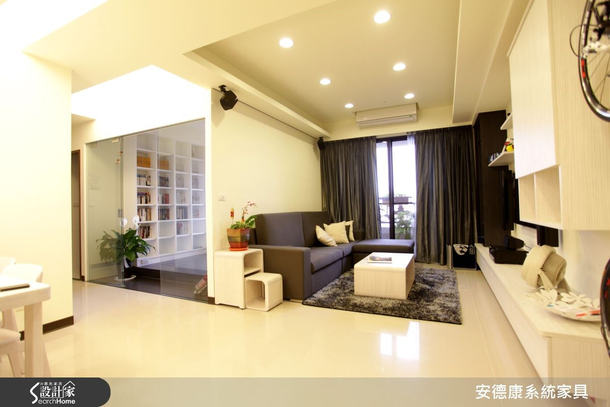 30坪新成屋(5年以下)_北歐風客廳案例圖片_安德康系統室內設計_安德康_22之4