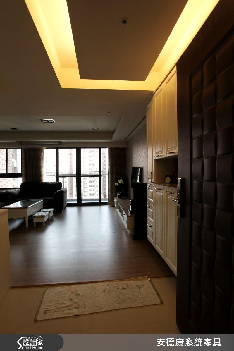 28坪新成屋(5年以下)_鄉村風客廳案例圖片_安德康系統室內設計_安德康_25之1
