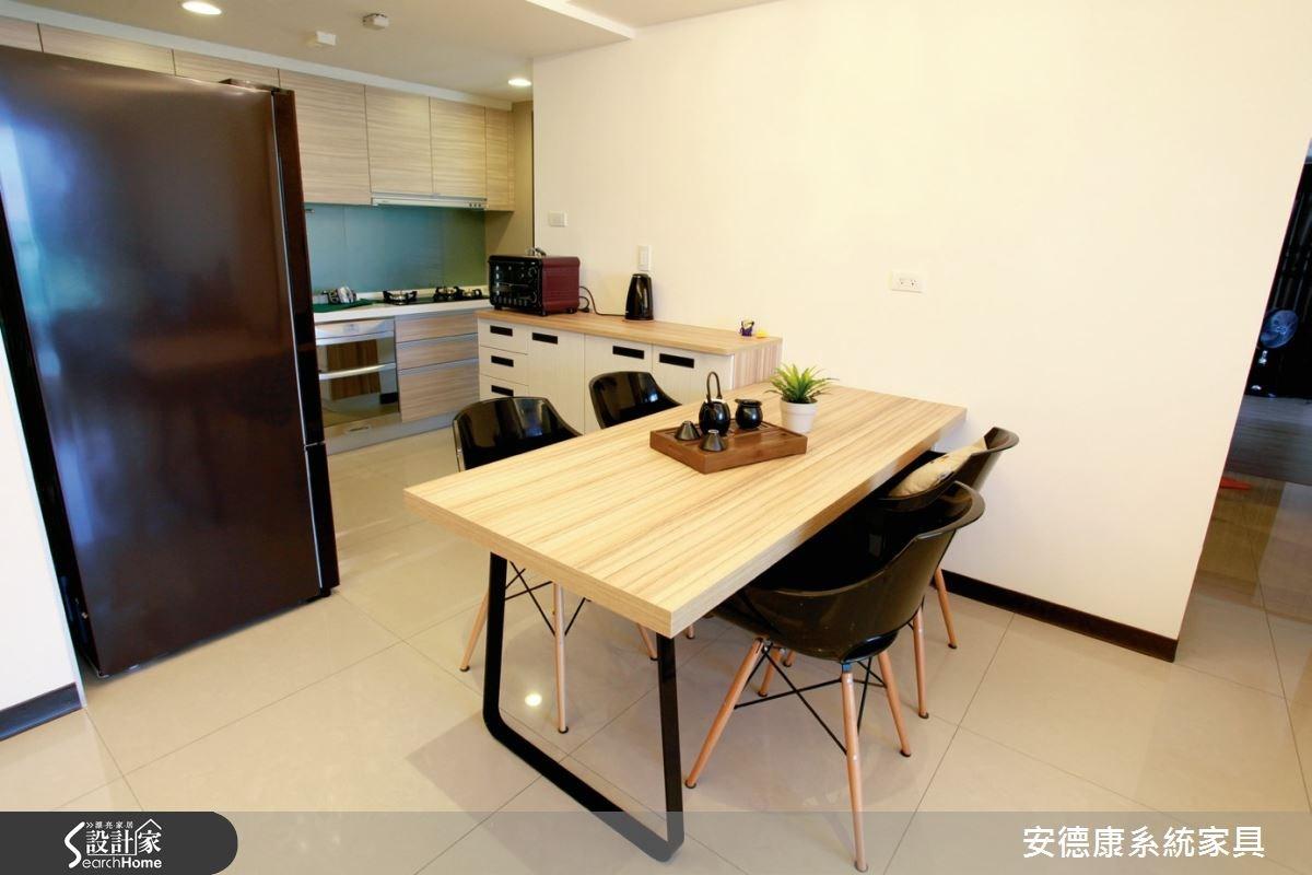 25坪新成屋(5年以下)_簡約風餐廳案例圖片_安德康系統室內設計_安德康_26之4