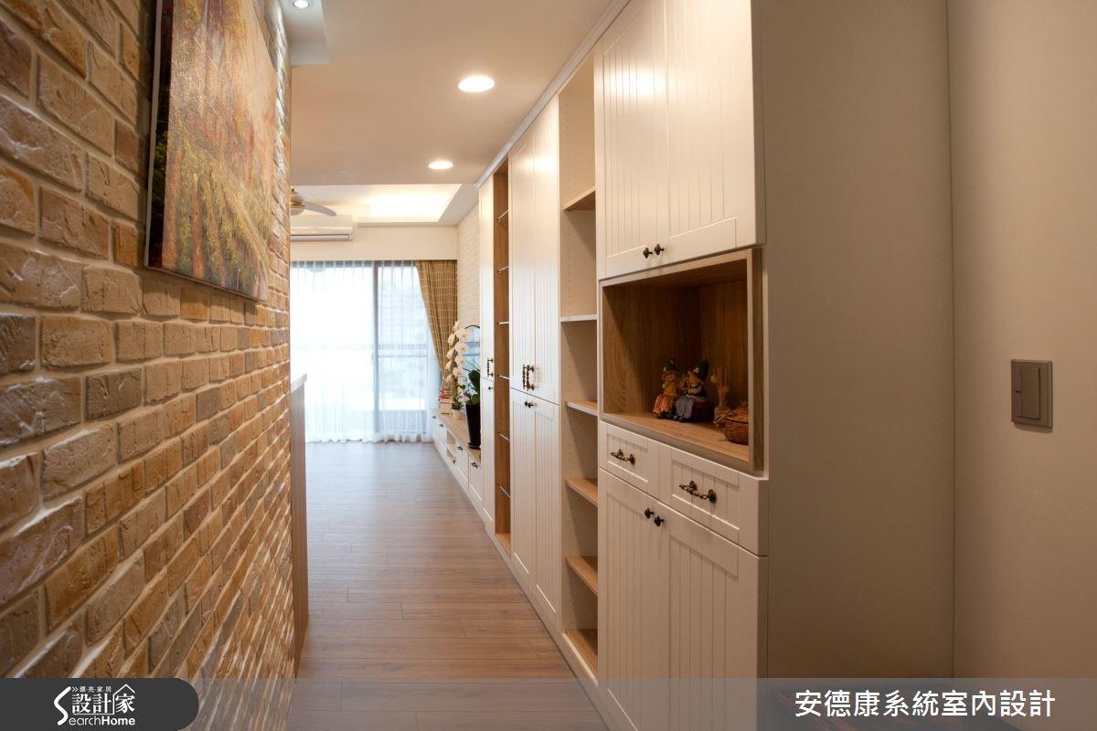 40坪新成屋(5年以下)_鄉村風走廊案例圖片_安德康系統室內設計_安德康_30之2