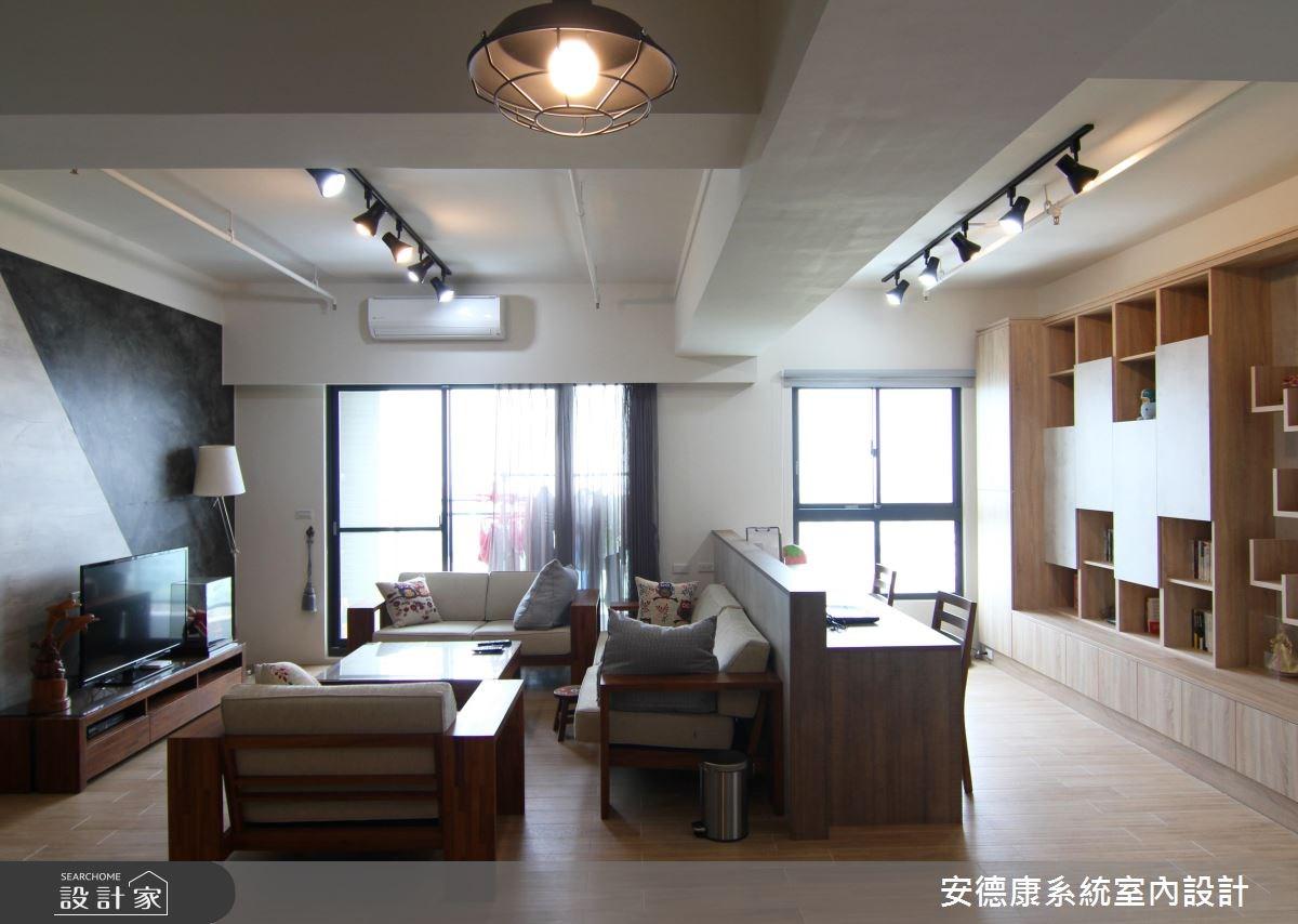 28坪新成屋(5年以下)_混搭風客廳工作區案例圖片_安德康系統室內設計_安德康_46之3