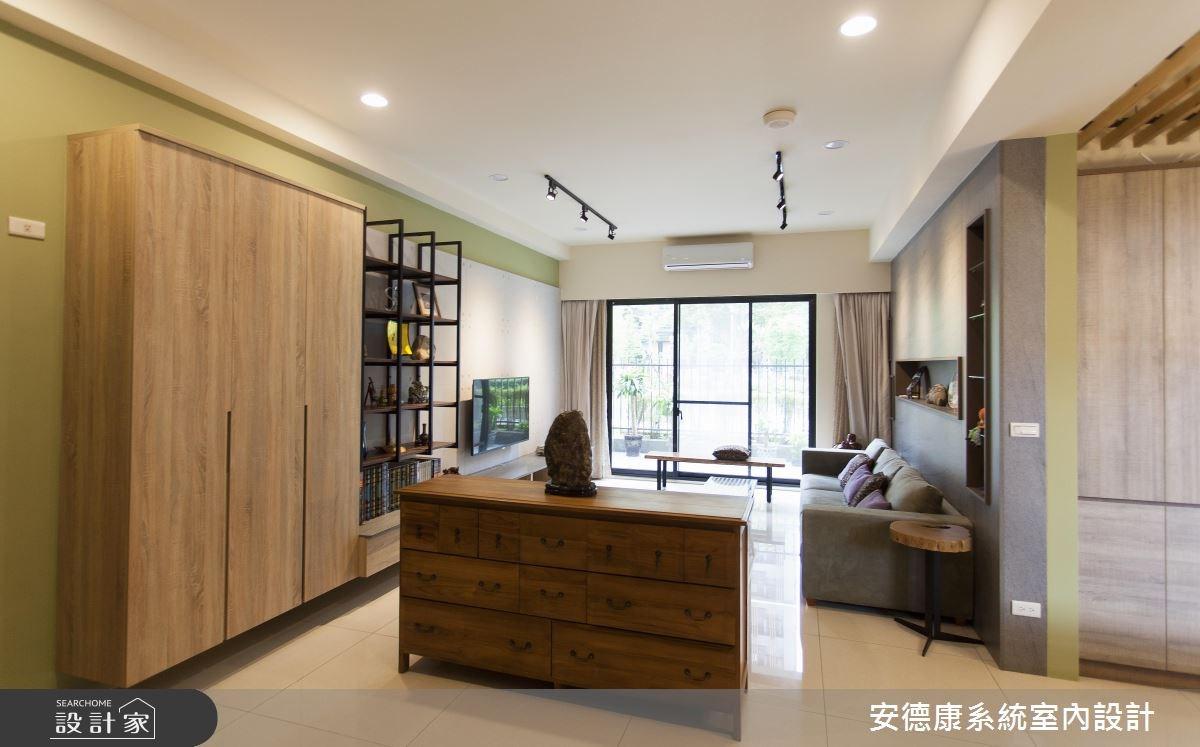 40坪新成屋(5年以下)_工業風玄關案例圖片_安德康系統室內設計_安德康_49之1