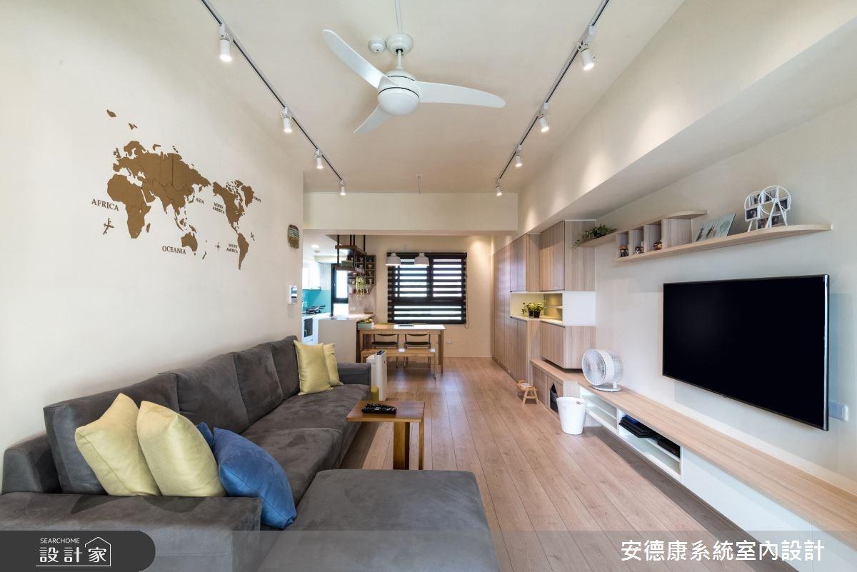28坪新成屋(5年以下)_北歐風客廳案例圖片_安德康系統室內設計_安德康_60之3