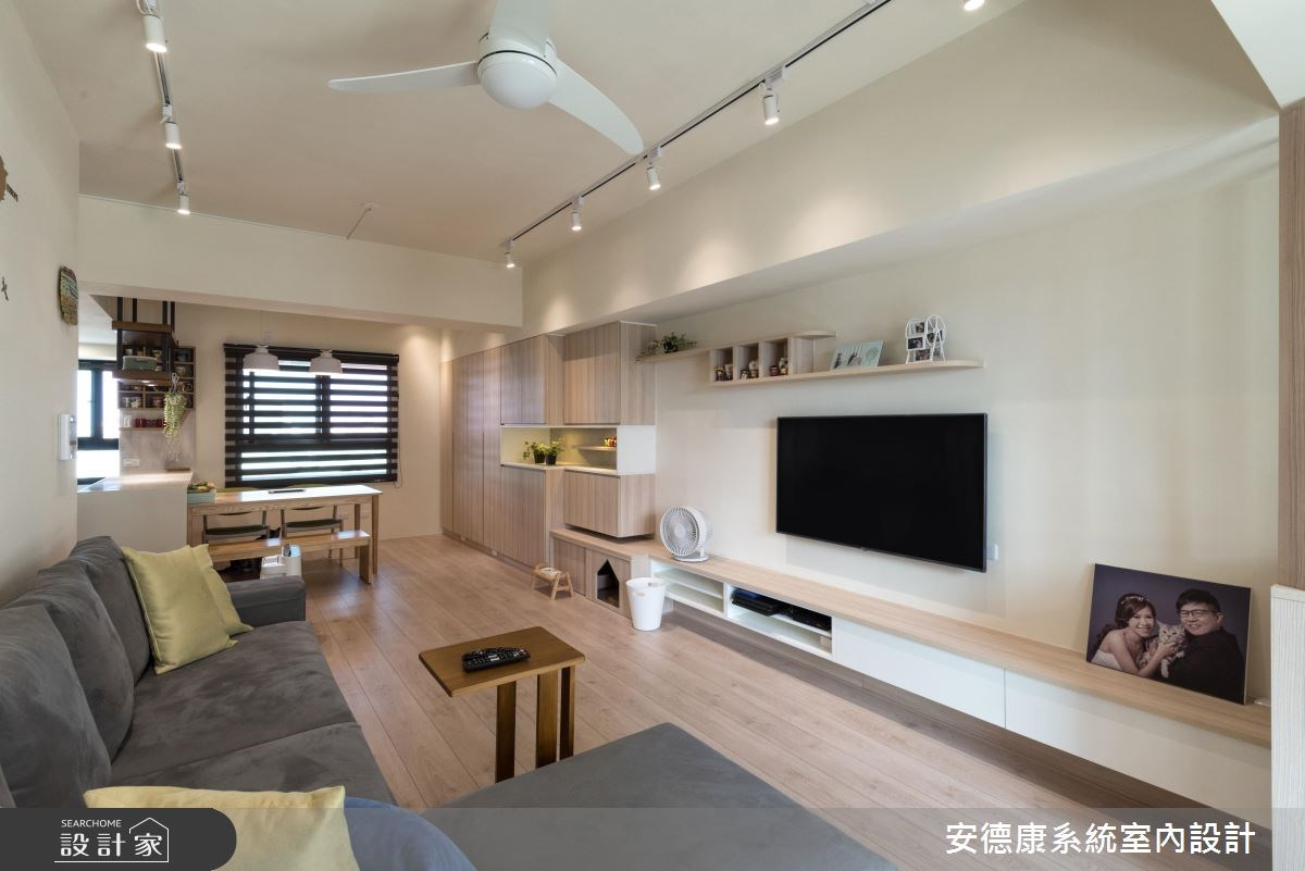 28坪新成屋(5年以下)_北歐風客廳案例圖片_安德康系統室內設計_安德康_60之5