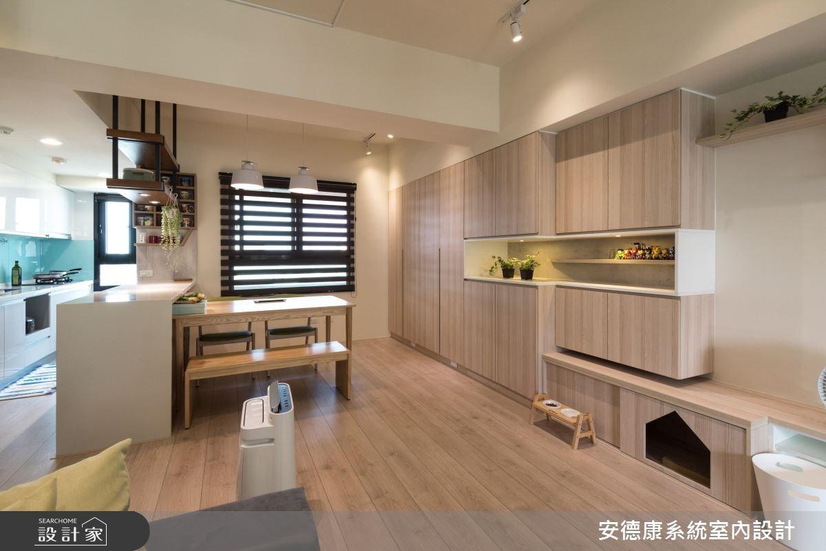 28坪新成屋(5年以下)_北歐風餐廳案例圖片_安德康系統室內設計_安德康_60之10