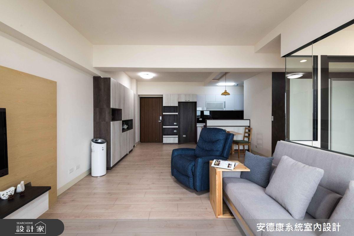 28坪新成屋(5年以下)_簡約風客廳案例圖片_安德康系統室內設計_安德康_69之5