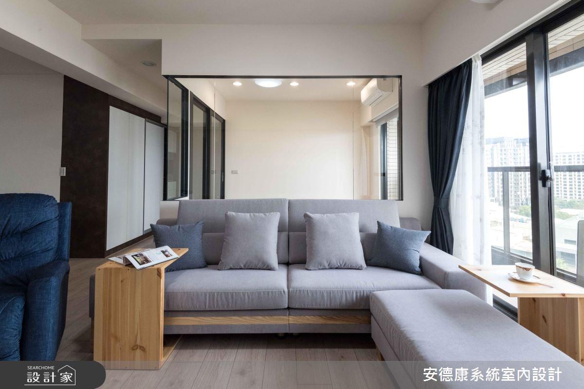 28坪新成屋(5年以下)_簡約風客廳案例圖片_安德康系統室內設計_安德康_69之6