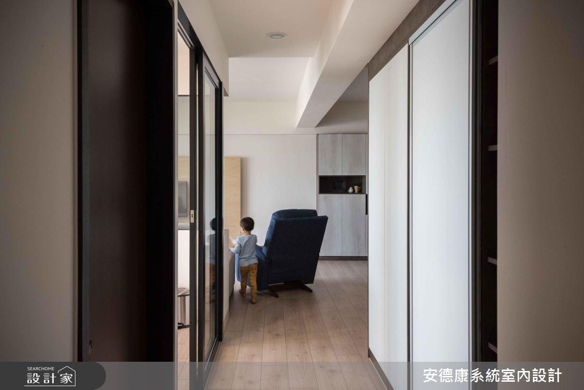 28坪新成屋(5年以下)_簡約風走廊案例圖片_安德康系統室內設計_安德康_69之11