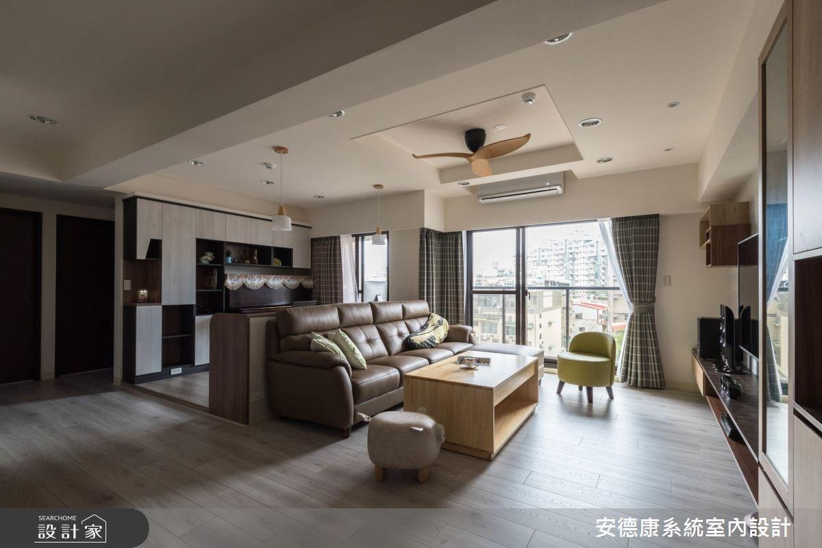 30坪新成屋(5年以下)_混搭風客廳案例圖片_安德康系統室內設計_安德康_73之4