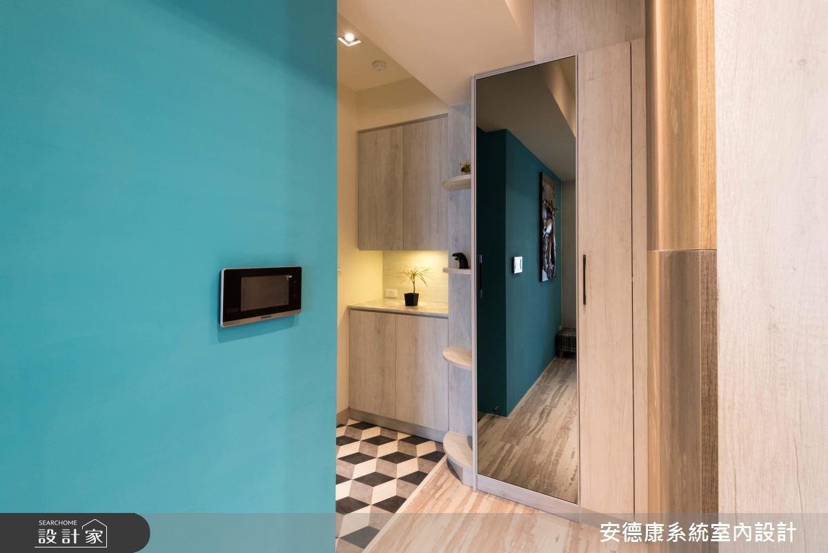26坪新成屋(5年以下)_混搭風玄關案例圖片_安德康系統室內設計_安德康_77之2