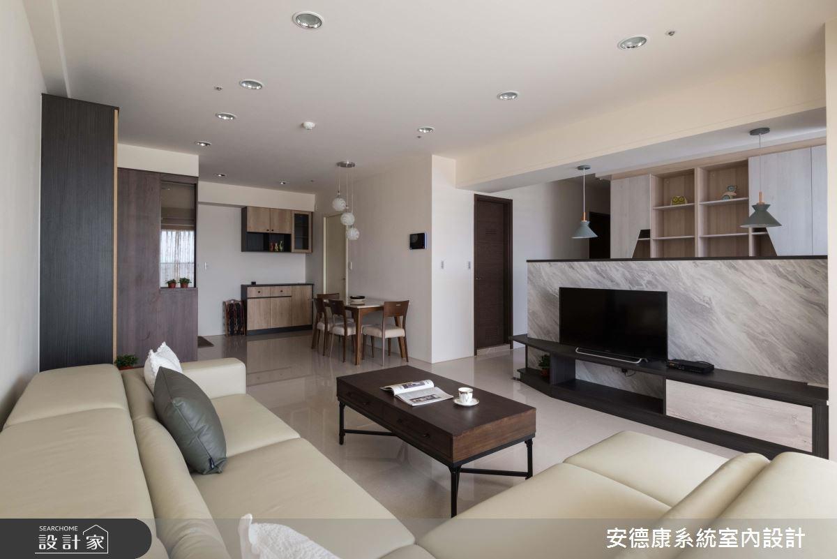 25坪新成屋(5年以下)_簡約風客廳案例圖片_安德康系統室內設計_安德康_79之5