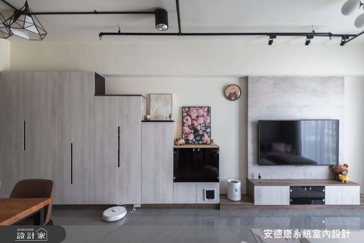 20坪新成屋(5年以下)_工業風客廳案例圖片_安德康系統室內設計_安德康_80之3