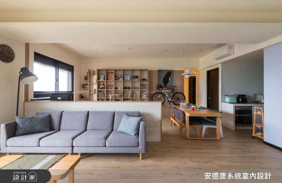 49坪新成屋(5年以下)_北歐風客廳案例圖片_安德康系統室內設計_安德康_92之4