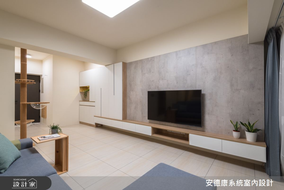 30坪新成屋(5年以下)_現代風客廳案例圖片_安德康系統室內設計_安德康_100之2