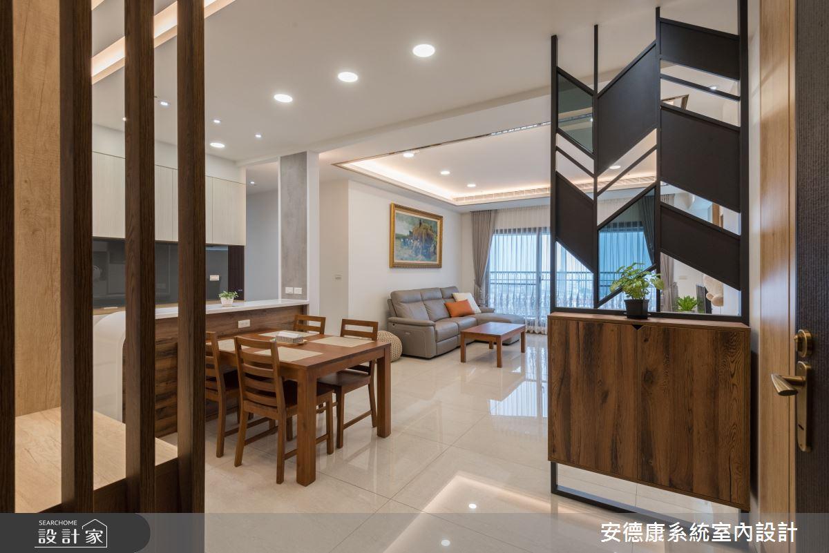 46坪新成屋(5年以下)_混搭風玄關餐廳案例圖片_安德康系統室內設計_安德康_109之2