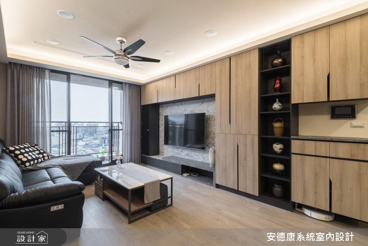 27坪新成屋(5年以下)_混搭風客廳案例圖片_安德康系統室內設計_安德康_111之2