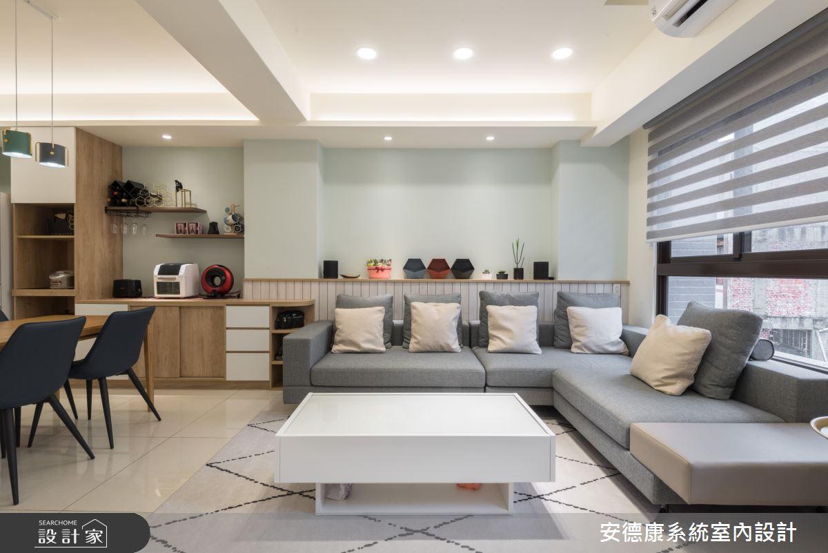 40坪新成屋(5年以下)_混搭風客廳案例圖片_安德康系統室內設計_安德康_113之2