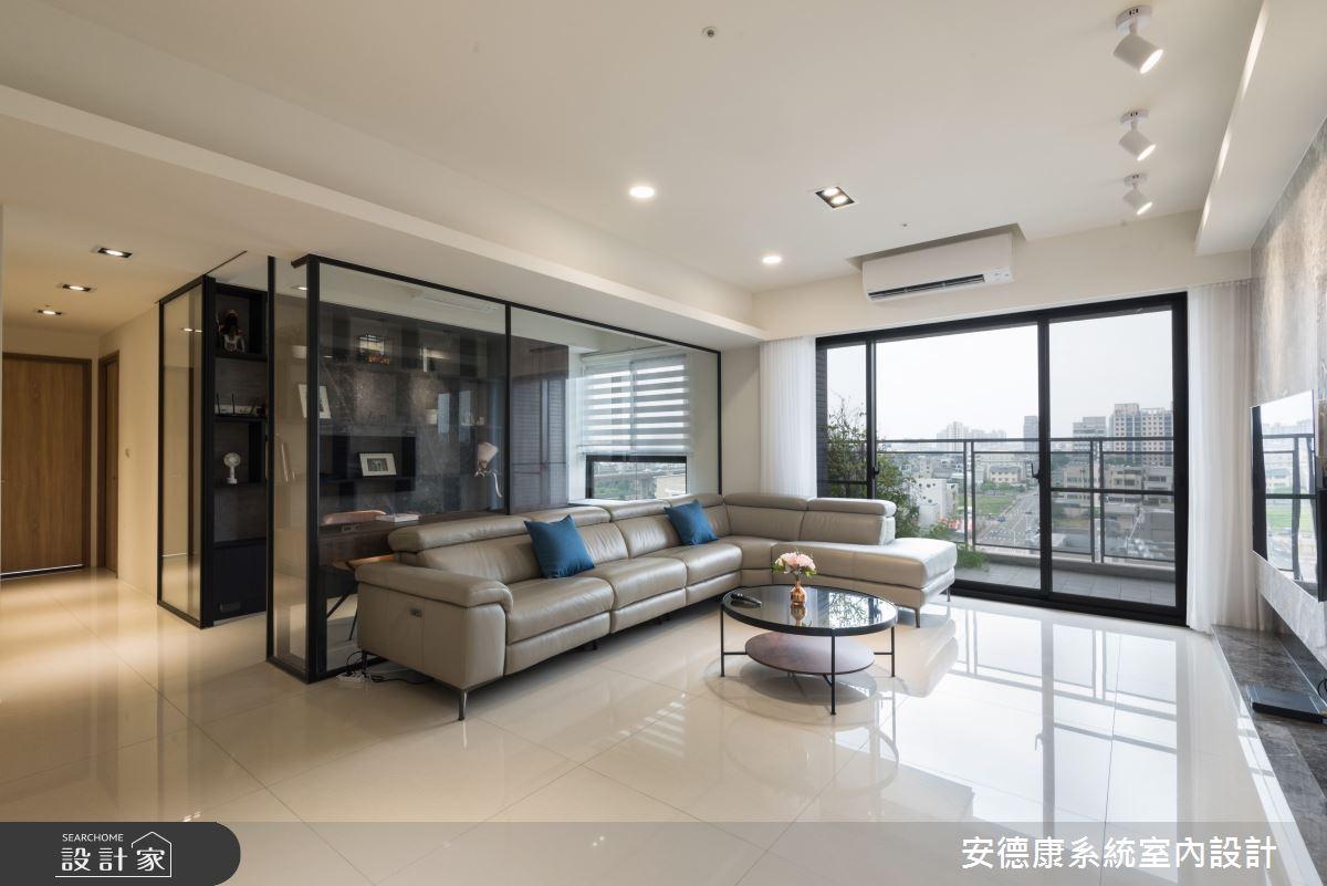 45坪新成屋(5年以下)_現代風客廳案例圖片_安德康系統室內設計_安德康_115之3
