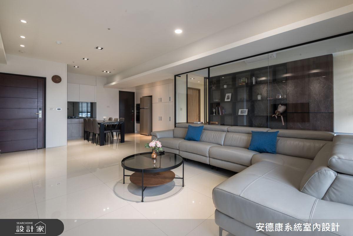 45坪新成屋(5年以下)_現代風客廳案例圖片_安德康系統室內設計_安德康_115之4
