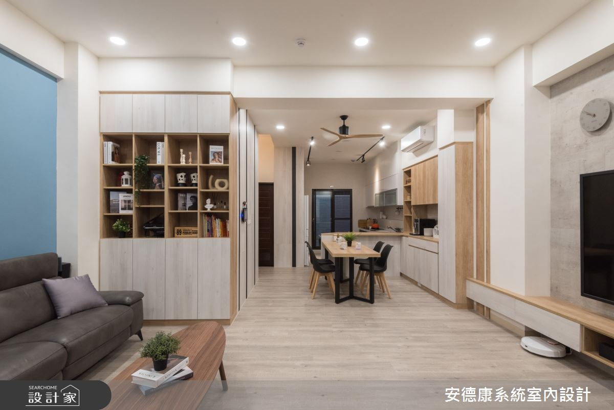 40坪新成屋(5年以下)_混搭風案例圖片_安德康系統室內設計_安德康_119之2