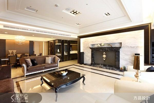 100坪新成屋(5年以下)_新古典客廳案例圖片_方品室內裝修設計工程有限公司_方品_02之3