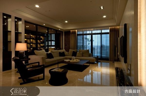 60坪新成屋(5年以下)_奢華風客廳案例圖片_方品室內裝修設計工程有限公司_方品_05之5