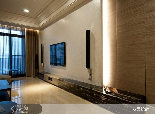 60坪新成屋(5年以下)_奢華風客廳案例圖片_方品室內裝修設計工程有限公司_方品_05之4