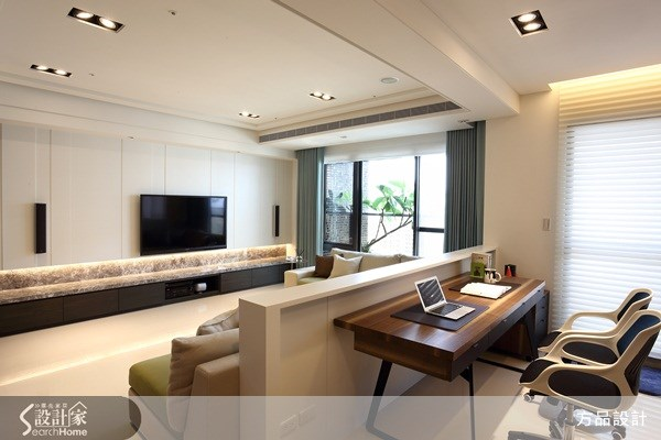 35坪新成屋(5年以下)_現代風客廳案例圖片_方品室內裝修設計工程有限公司_方品_12之2