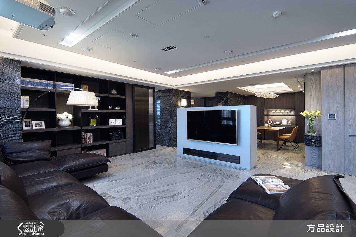 90坪預售屋_現代風客廳案例圖片_方品室內裝修設計工程有限公司_方品_19之1