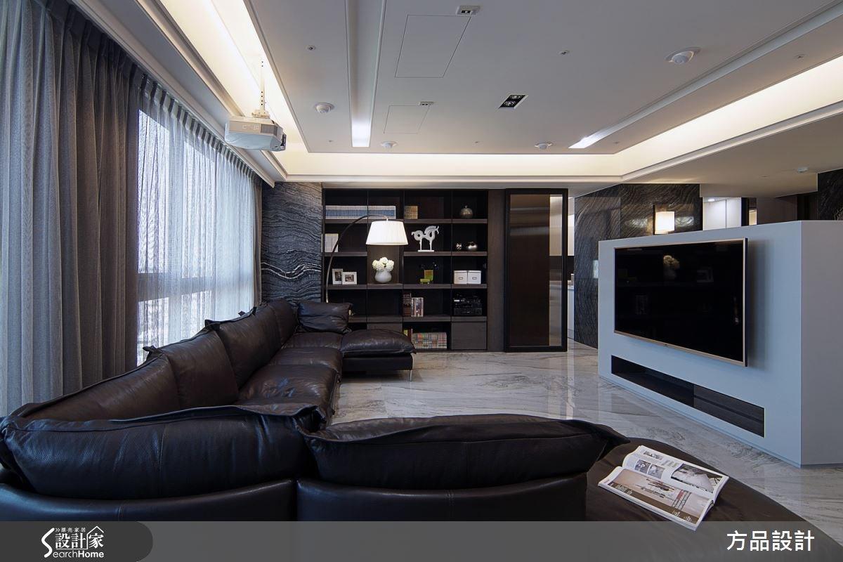 90坪預售屋_現代風客廳案例圖片_方品室內裝修設計工程有限公司_方品_19之2