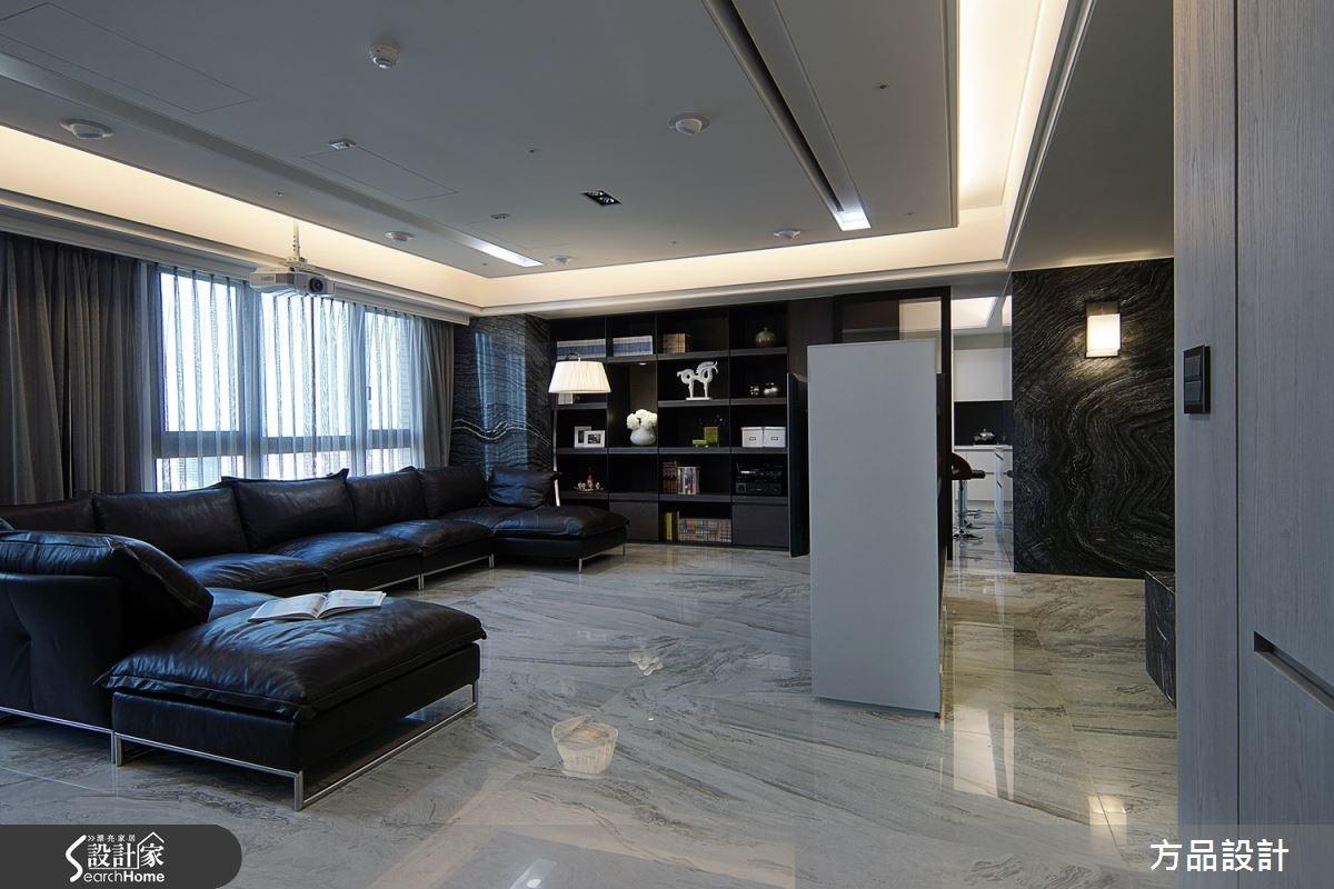 90坪預售屋_現代風客廳案例圖片_方品室內裝修設計工程有限公司_方品_19之3