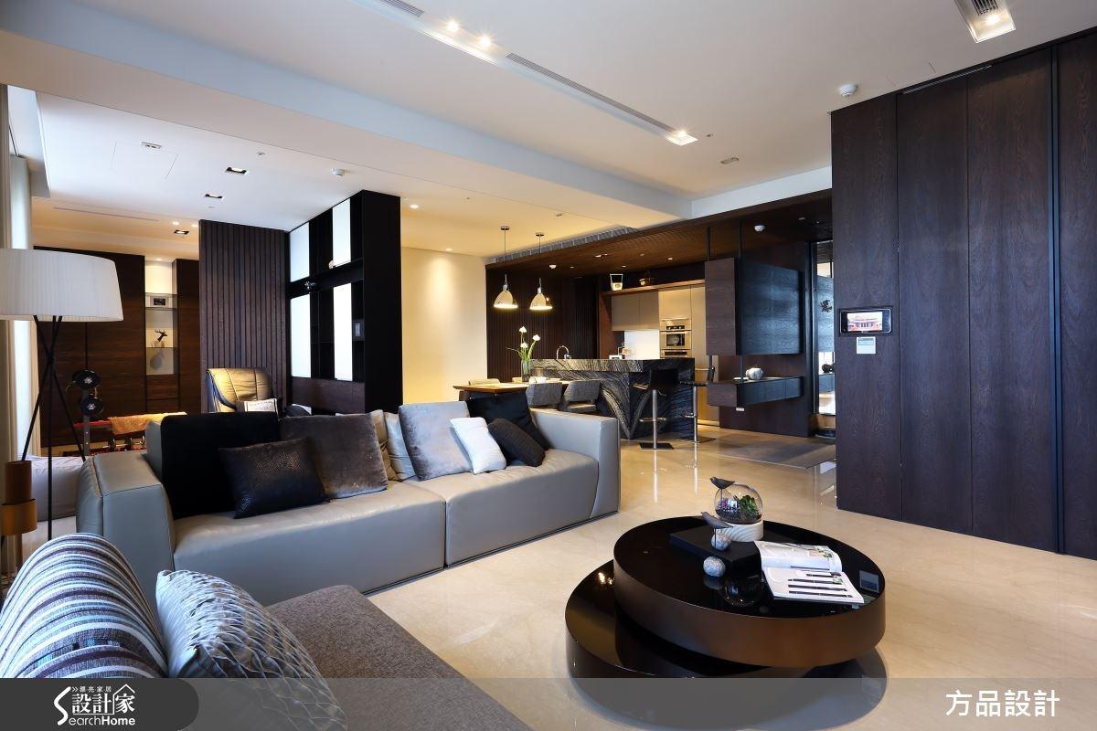 48坪新成屋(5年以下)_現代風客廳案例圖片_方品室內裝修設計工程有限公司_方品_20之1