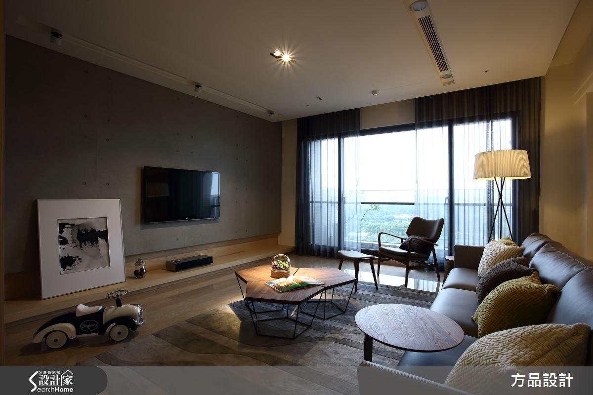 40坪新成屋(5年以下)_休閒風客廳案例圖片_方品室內裝修設計工程有限公司_方品_22之2
