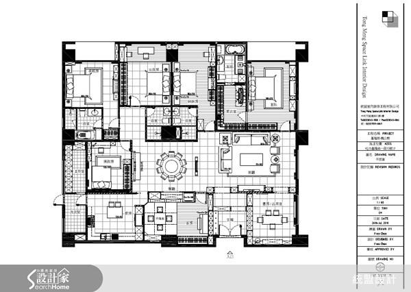 120坪新成屋(5年以下)_新古典案例圖片_統盟室內裝修_統盟_04之15