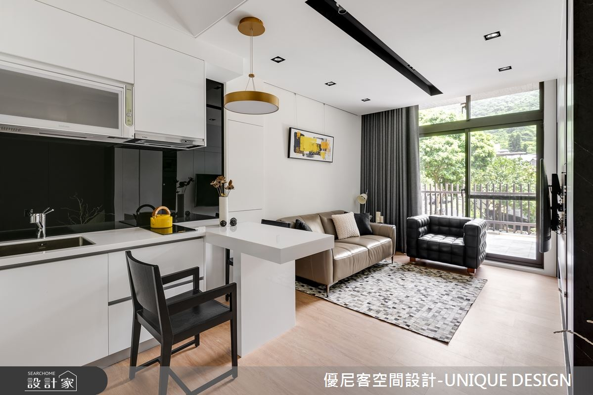 12坪新成屋(5年以下)_簡約風客廳餐廳廚房案例圖片_優尼客空間設計-UNIQUE DESIGN_優尼客_31之1