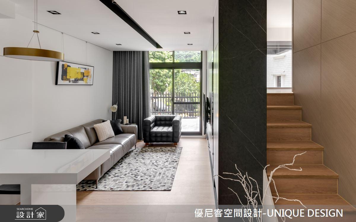 12坪新成屋(5年以下)_簡約風客廳樓梯案例圖片_優尼客空間設計-UNIQUE DESIGN_優尼客_31之4